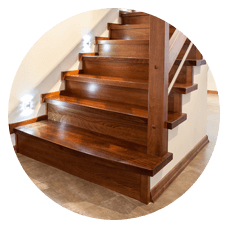 Staircase steps replace refinishing