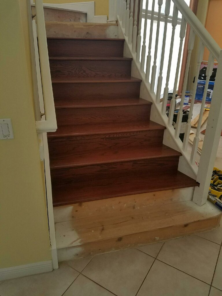 Refinished Stairs · Real Maple Hardwood Staircase · Staircase Laminate Wood