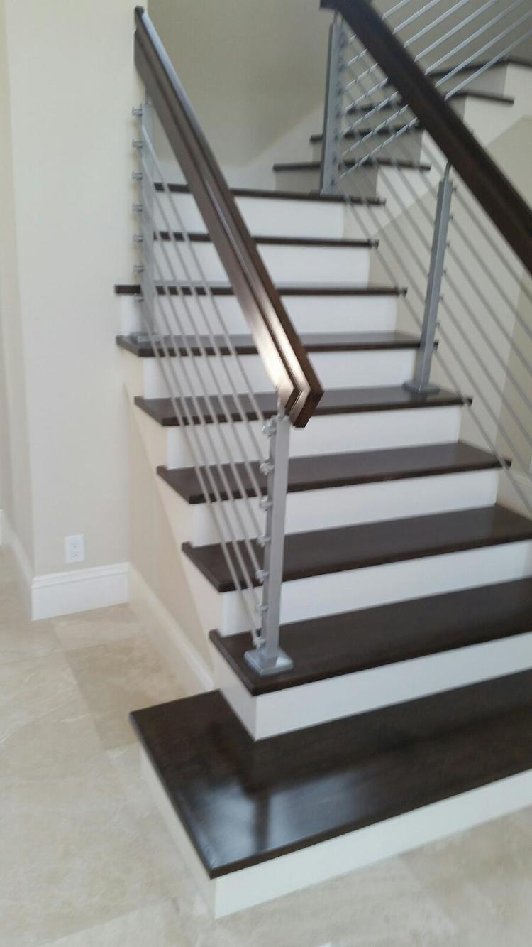 Maple Stain Dark Wood Stair Steps