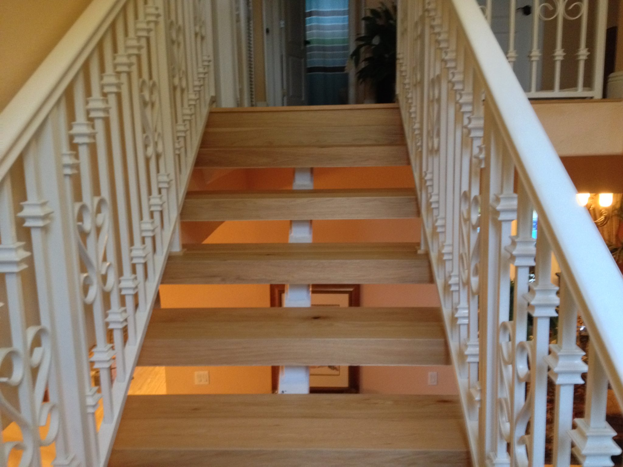 Refinished Stairs · Real Maple Hardwood Staircase